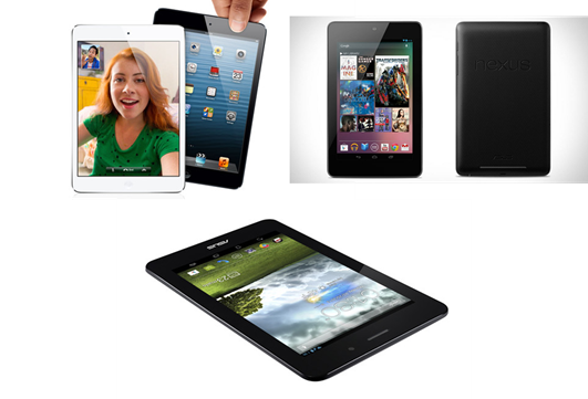 image of ipad mini, Nexus 7 and Asus
