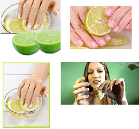 images how to cake about the nails with lemon