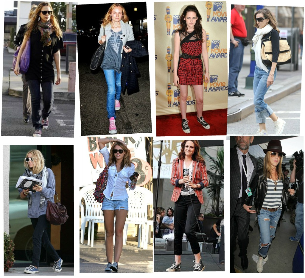 different ways to wear converse