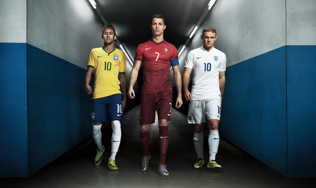 cristiano, Rooney and naymar for nike