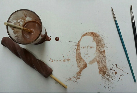 Making art with…ice cream?